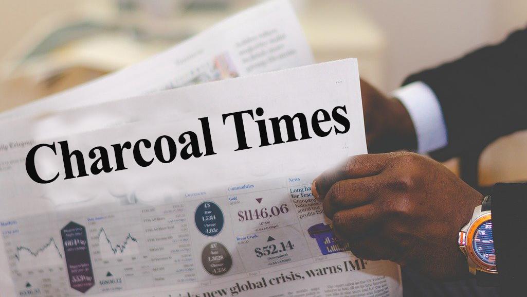charcoal times newspaper headline