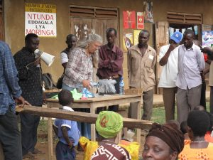 Kimberly Dinsley in Uganda