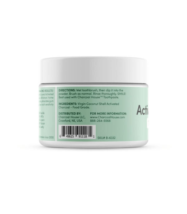 Activated Charcoal Tooth Powder Side