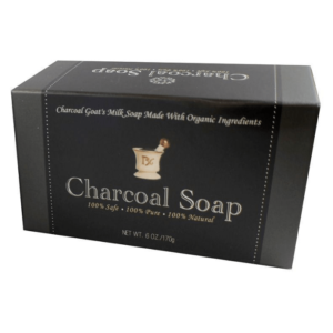 Activated Charcoal Goat Milk Soap in Box Angle Shot