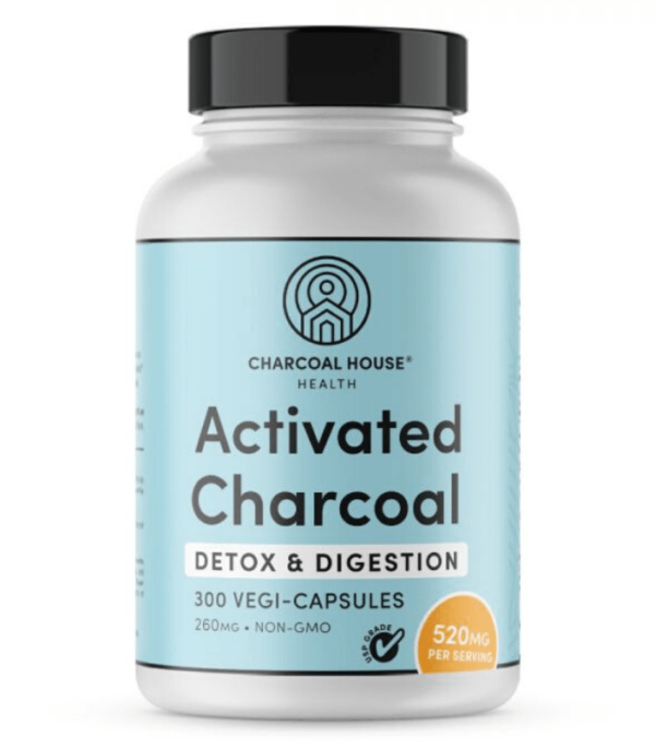 Activated Charcoal Capsules 300 Count