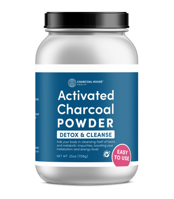 USP Coconut Activated Charcoal Powder - Detox and Cleanse ( 25 oz Glass jar)