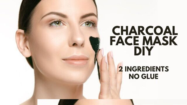 charcoal face mask diy recipe 2 ingredients no glue